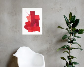 Red Collage Print 3