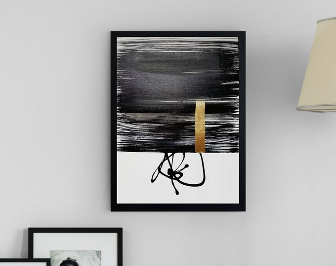 Original Acrylic abstract wall art by Margaret Lipsey. Expressive minimal artwork for your home or office. -  Voice without Words