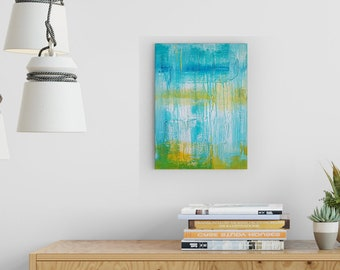 Textured Acrylic abstract wall art by Margaret Lipsey. Colorful and expressive artwork for your home or office. - The Summers of Childhood