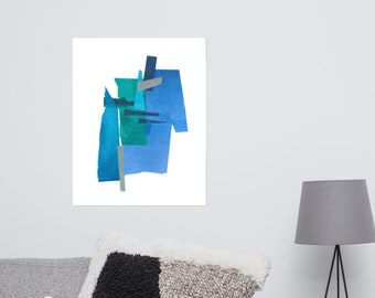 Blue Collage Print 4