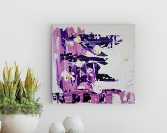 Textured Acrylic abstract wall art by Margaret Lipsey. Colorful and expressive artwork for your home or office. - Jardin