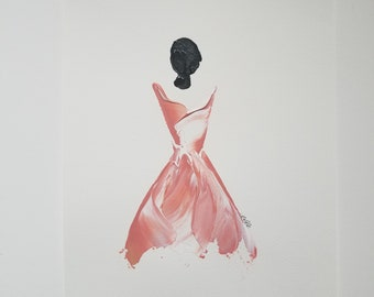 Woman of Strength on Paper - Dusty Rose 1