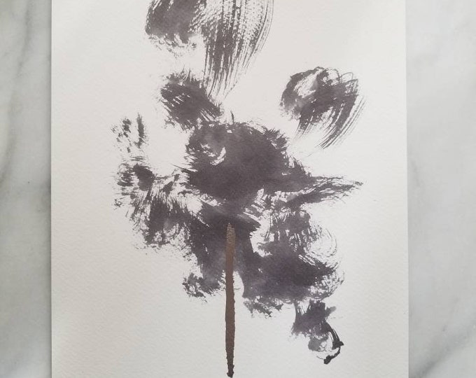 Abstract ink work by Margaret Lipsey. Beautiful Minimal wall art for your home or office. - Deciphering Clouds