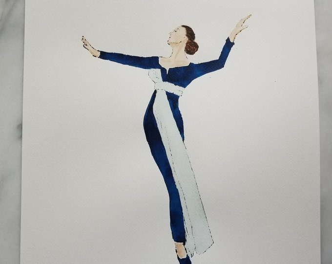 Fashion inspired watercolor art by Margaret Lipsey. Beautiful and minimal wall art for your home or office. Début 1