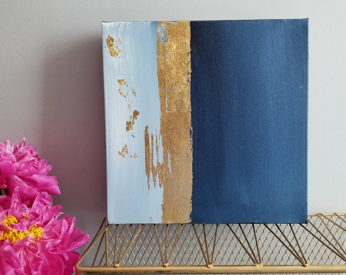Textured Acrylic abstract wall art by Margaret Lipsey. Colorful and expressive artwork for your home or office. - Blue #2