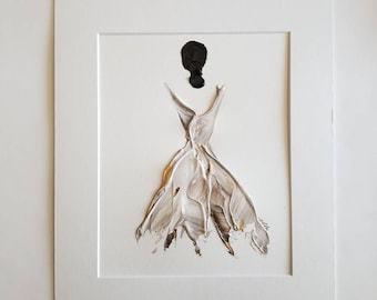 Woman in Gold No. 2 Women of Strength series - on paper