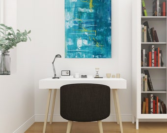 Textured Acrylic abstract wall art by Margaret Lipsey. Colorful and expressive artwork for your home or office. - Underwater Garden
