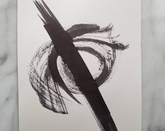Abstract ink work by Margaret Lipsey. Beautiful Minimal wall art for your home or office. - Beauty on the Path