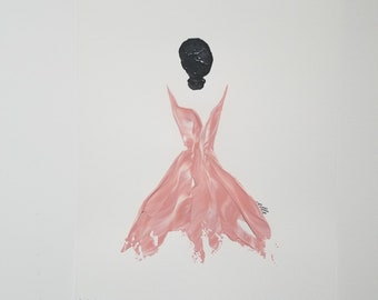 Woman of Strength on Paper - Dusty Rose 2