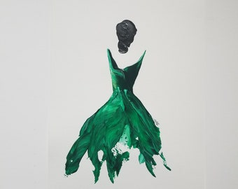 Woman of Strength on Paper - green 6