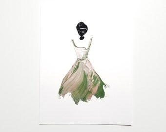 Woman in Rose Gold and Green 2