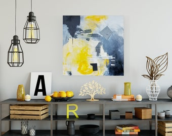 Large Collage Abstract Wall Art for Home or Office