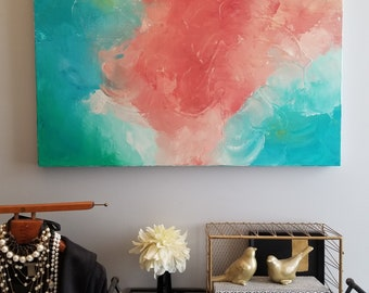 Insane Courage - Acrylic abstract wall art by Margaret Lipsey. Colorful and expressive artwork for your home or office.