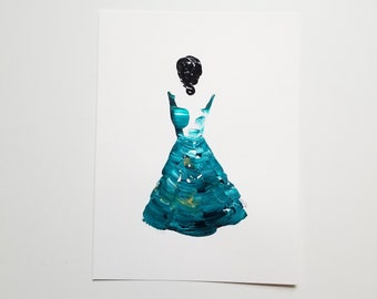 Woman in Turquoise 2