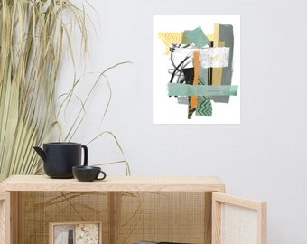 Green Collage Print