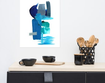 Blue Collage Print 2