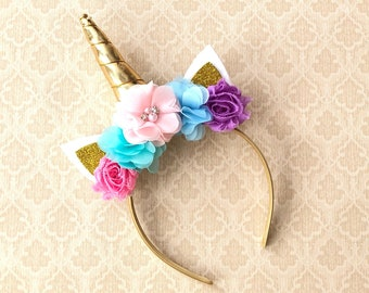 32cb9333ddb Unicorn Headband- Unicorn Gold Headband- Unicorn Pink Headband- Unicorn  Girls- Unicorn Party- Unicorn Horn- Birthday Unicorn Headband