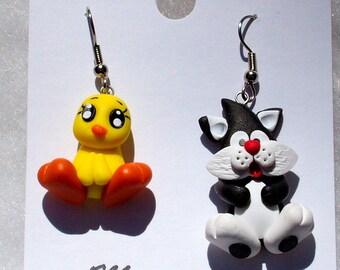 Sylvester and Tweety Earrings