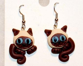 Meezer  (Siamese) Earrings
