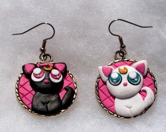 Luna and Artemis Circle Earrings