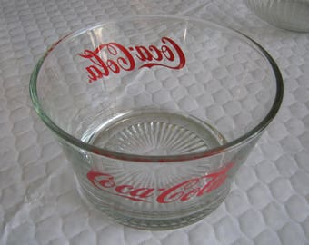 "Coca Cola 7"" X 4"" Deep Glass Snack Bowl"