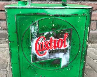 Castrol vintage petrol can 1930s garage gas sign