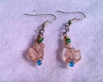 Wire-wrapped Dangle Earrings