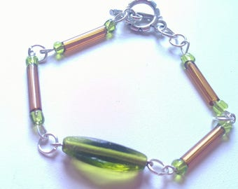 Green  And Orange Bracelet