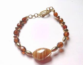 Orange And Gold Bracelet