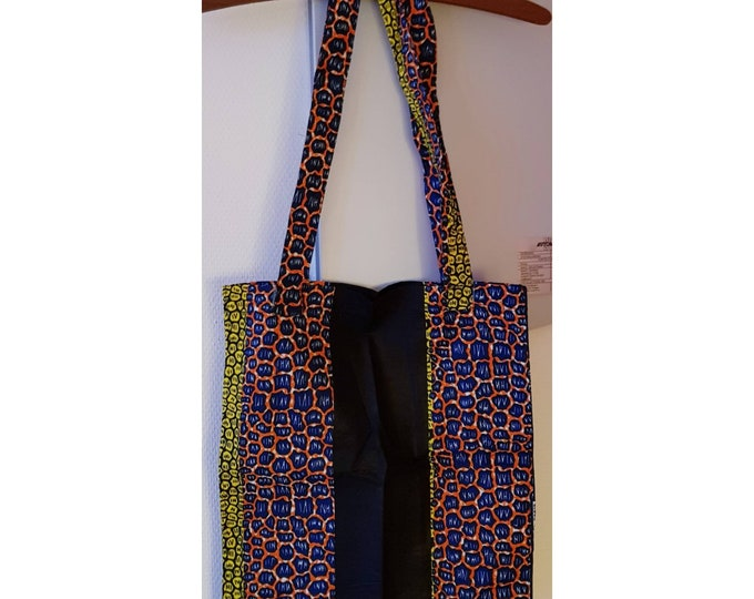 African print tote bag. Wax. Ankara. 100% cotton. Made in Ghana.