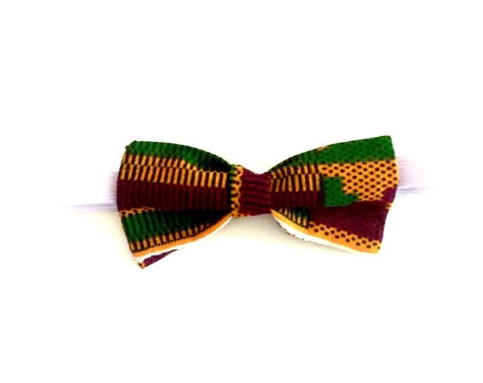 Kente pattern bow tie. African print. Wax. Ankara. Made in Ghana.