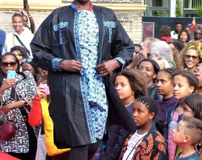 3XL. African print shirt dress. Handmade and unique. GTP fabric. Ankara. Wax africain. Batik. 100% cotton. Made in Ghana.