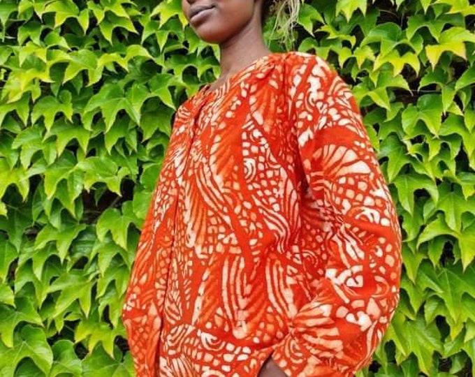 XL. Organic cotton shirt. Handmade unisex set. Authentic batik. 100% sustainable cotton. Made in Africa.