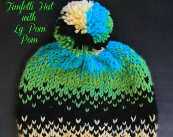 Funfetti Hats-Knit (3 Multi-Color Options) - (2 Size Options)