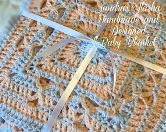 UNISEX BABY BLANKET (Alaskan Handmade and Designed)
