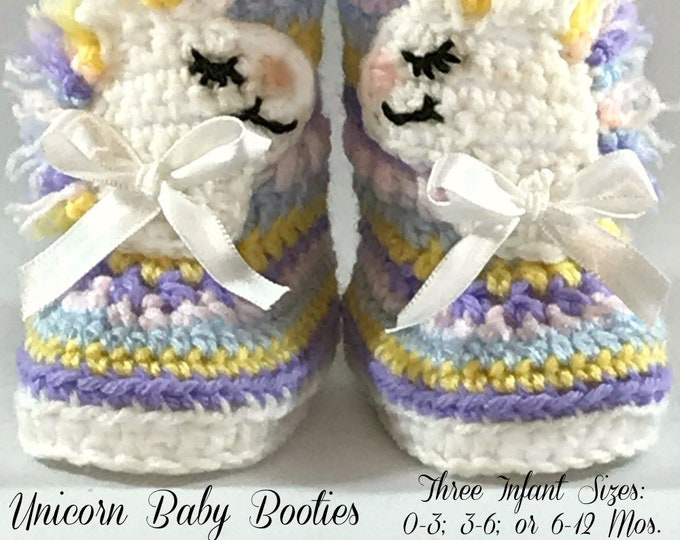 ALASKA UNICORN Baby Booties (Three Infant Size Options)