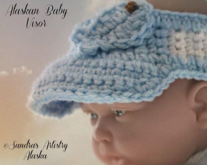 ALASKAN BABY VISOR (Guys)-Three infant sizes