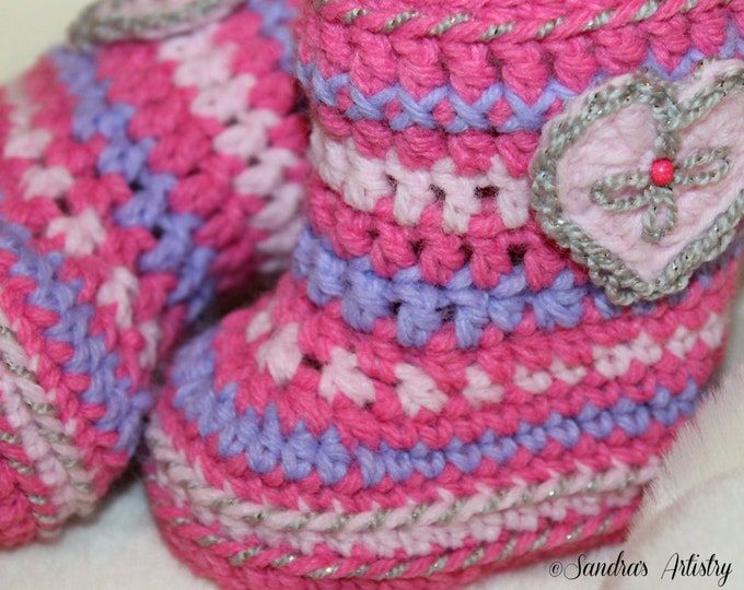 ALASKA PRINCESS Booties  (5 Infant Sizes)