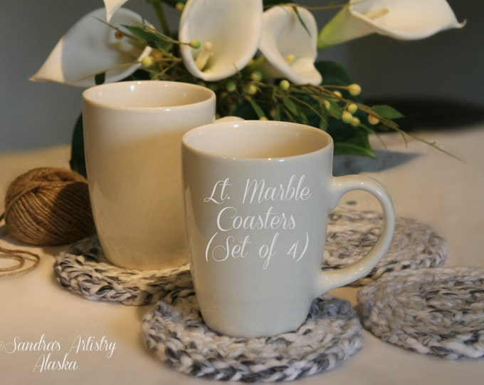 Rustic Chic Coaster 4/set (3 Colors Options)