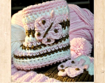 ALASKAN BABY BOOTIES (Gals) - Available in 3 Infant Sizes