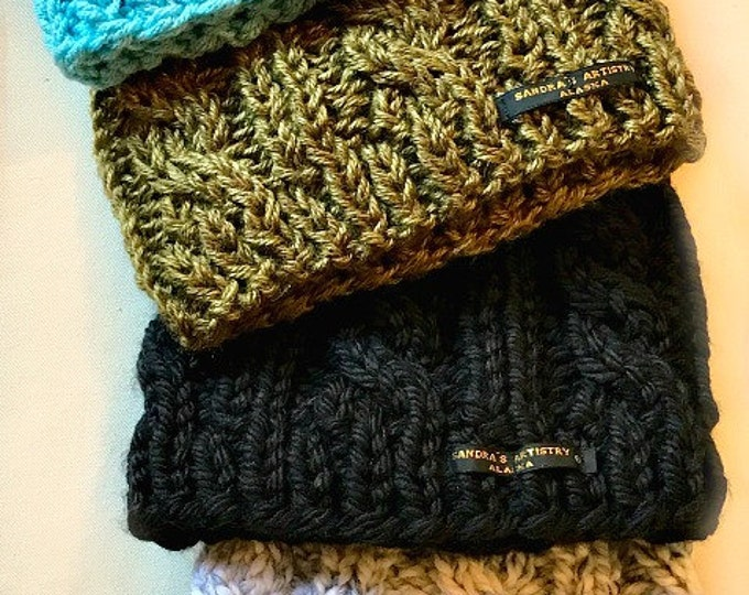 Alaskan Fav Cunky Cable Knit Hats (5 Hues, so far)