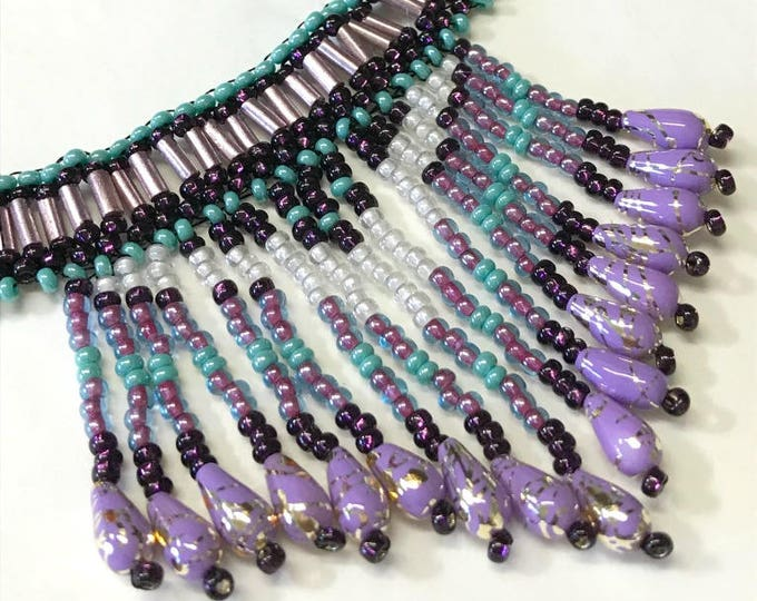 "Beaded Necklace - 14.5""-16"" L (Handmade and Designed)"