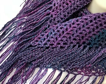 "Celestial Modern Boho Chic Shawl (Large 57""L x 27W"")-Handmade and Designed"