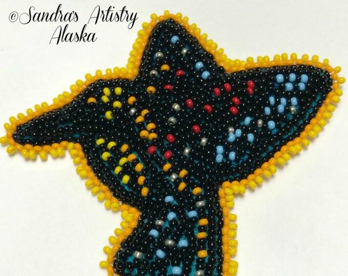 """Alaska Handmade Beaded Hummingbird-3-1/2 L x 3-3/4 W"""" in Czech Glass Beads"""