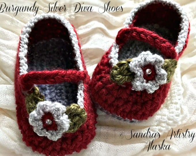 Diva Baby Shoes (2 Color Schemes-3 Szs Ea)