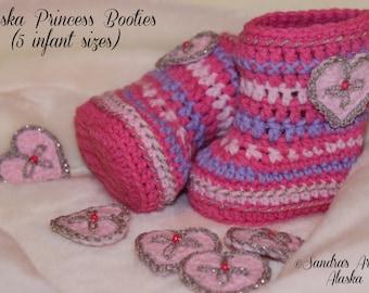 ALASKA PRINCESS Booties  (5 Infant Sizes)