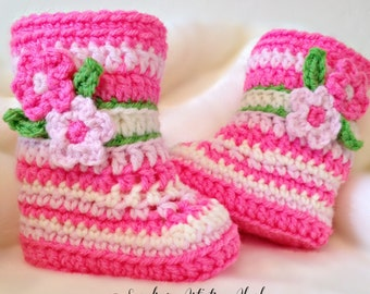 Alaska Fireweed Baby Booties - One size available at 0-3 Months