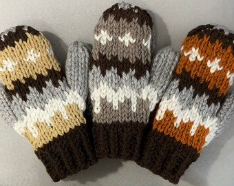 Bernie Sanders Chunky Mittens-Inauguration-(Three Color Options)-Knit