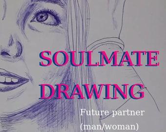 Soulmate / Future Partner Drawing (by consciousness artist Charis Felice - HealingTarotNet)