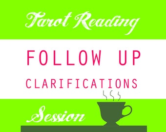 Follow up clarifications for your last tarot reading - 3 or more questions